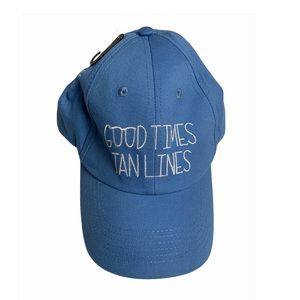 Blue Good times and Tan Lines Baseball Cap